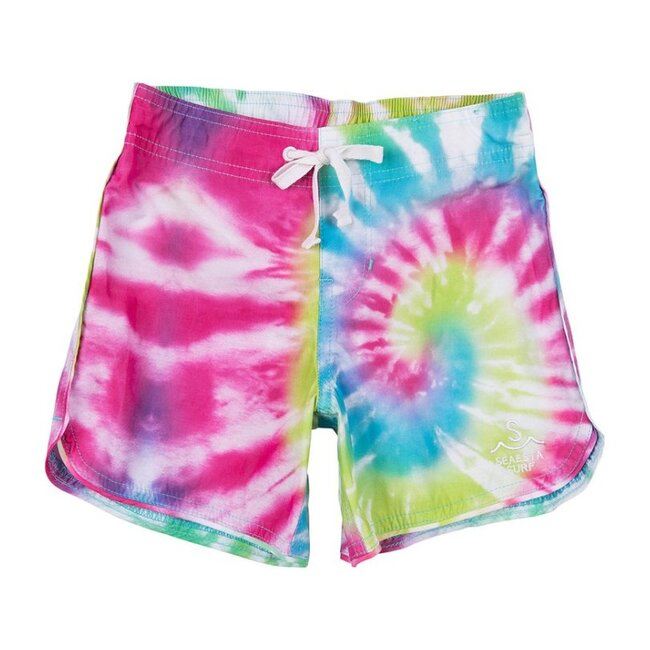 Boys Sea Ripple Boardshorts, Neon Tye Dye