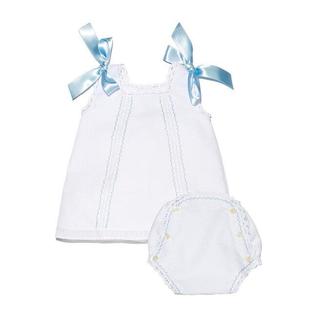 Cortito Cotton Dress, White Piqué