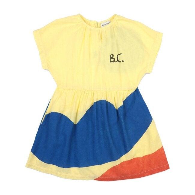 Landscape Woven Dress, Yellow