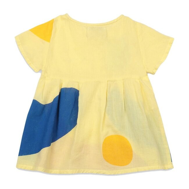 Play Landscape Buttoned Dress, Yellow