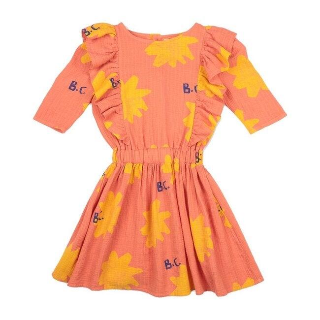 All Over Spark Woven Dress, Orange