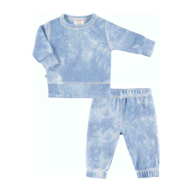 Baby Tie Dye Loungewear Set, Blue