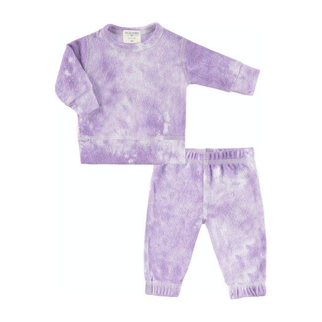 Baby Tie Dye Loungewear Set, Lavender