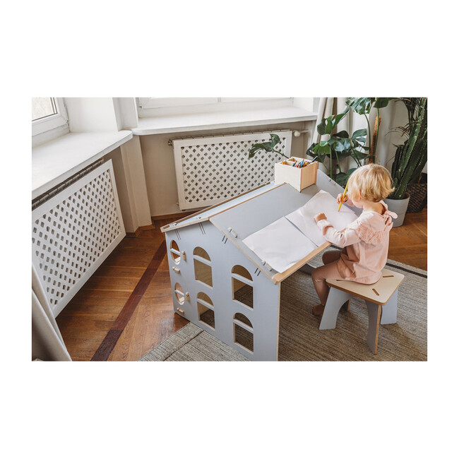 My Mini Desk House, Grey/Wood