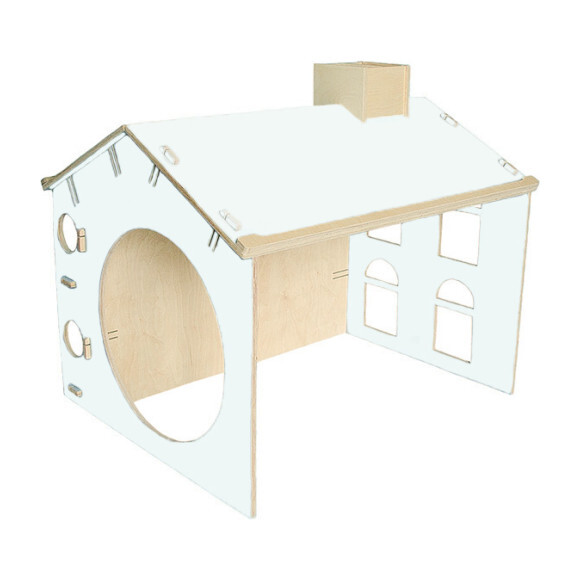 My Mini Desk House, White/Wood