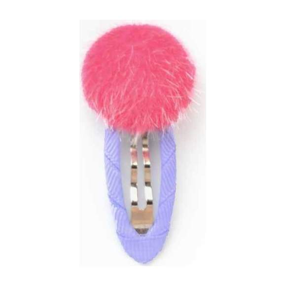 Cotton Candy Dots Clips, Pink/Lavender