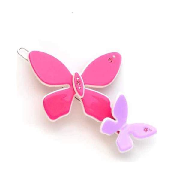 Acrylic Butterfly Clip, Pink