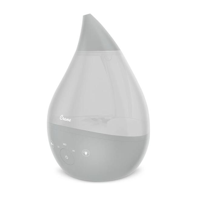 4 in 1 Top Fill 1 Gallon Cool Mist Humidifier Sound Machine, Grey