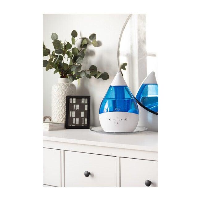 4 in 1 Top Fill 1 Gallon Cool Mist Humidifier Sound Machine, Blue & White