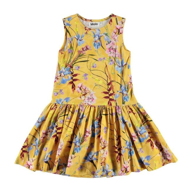 Candece Floral Dress, Yellow - Dresses - 1