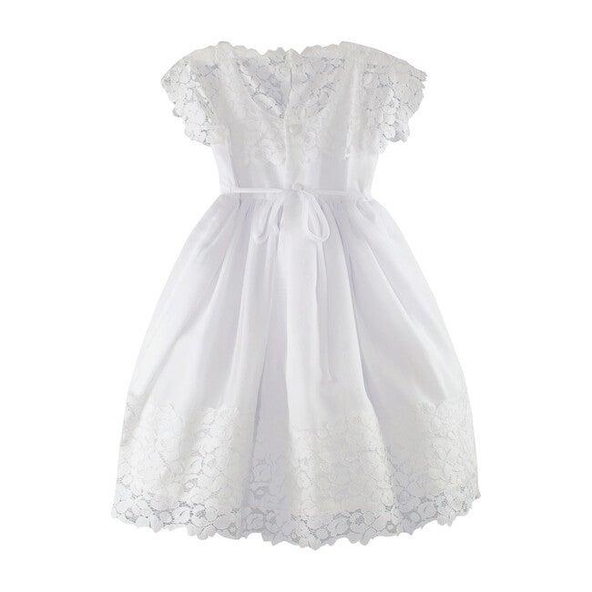 Vintage Lace Dress, White Cotton