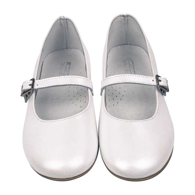 Mary Jane Party Shoe, White Leather