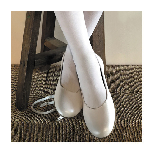 Two Way Party Shoe, White Leather