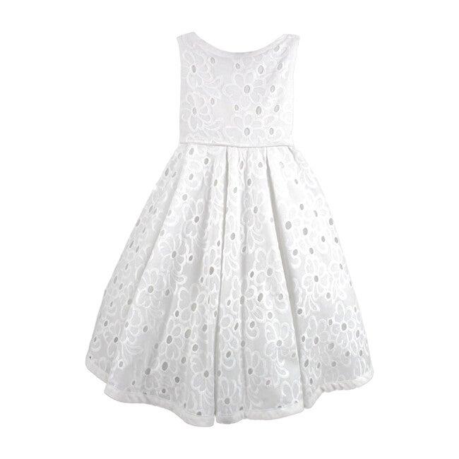 Daisy Floral Dress, White Eyelet