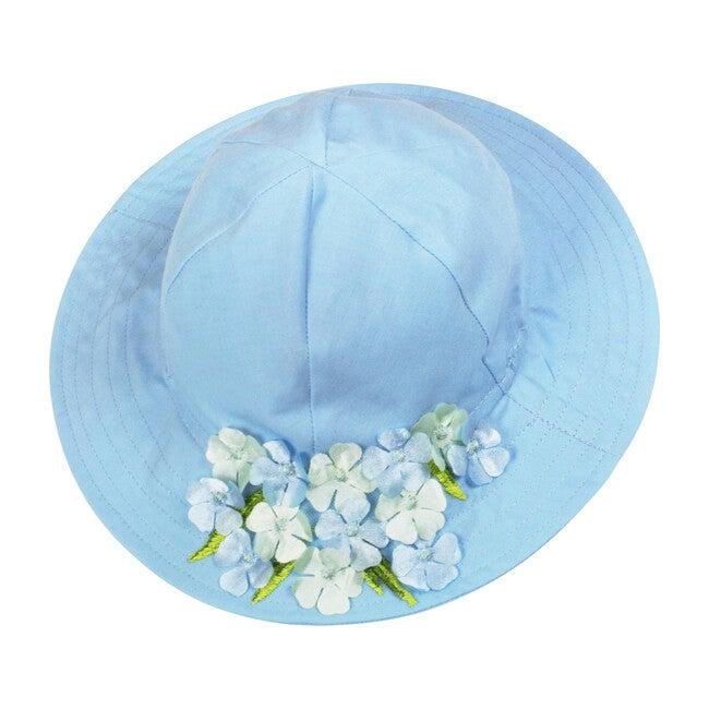 Hydrangea Sunhat, Light Blue Cotton