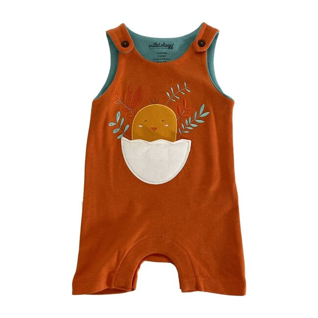 Baby Chick Romper, Orange
