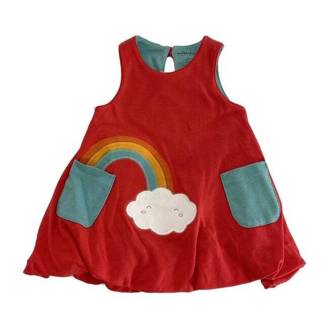 Rainbow Bubble Dress, Raspberry