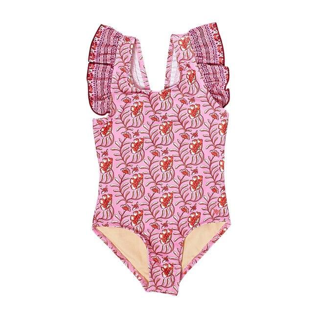 Baby Liv Suit, Cyclamen Pink Vine Floral