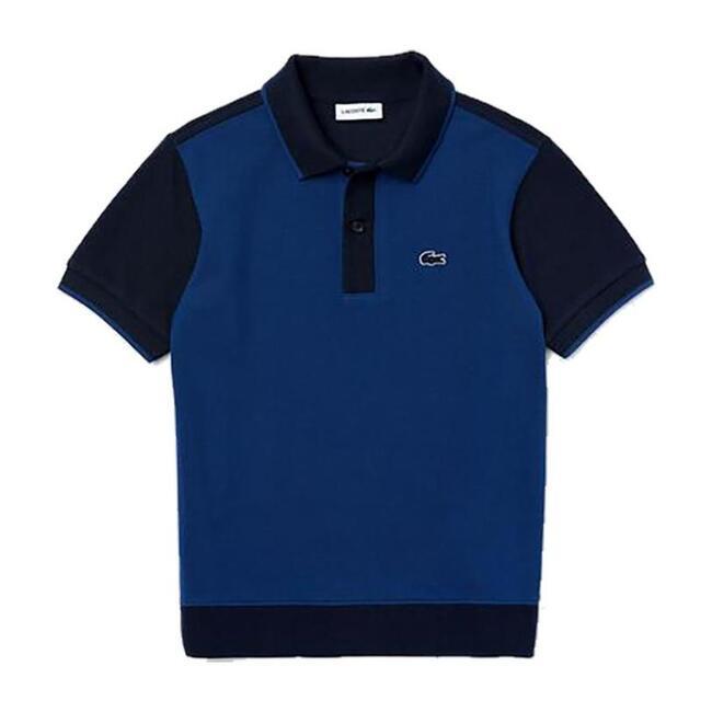 Two-Tone Pique Polo, Blue