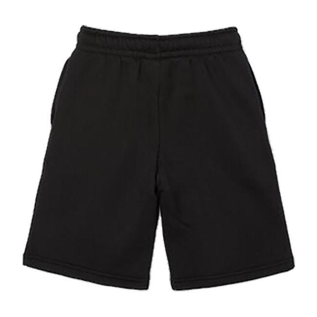 Fleece Logo Shorts, Black