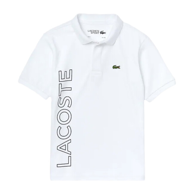 Side Logo Polo, White