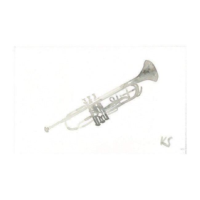 """Trumpet, 10.5"""" x 7.5"""""""