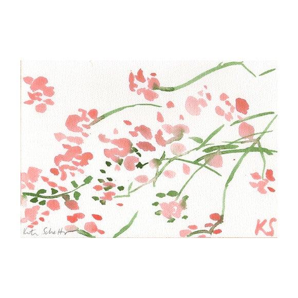 "Pink Bougainvilla SVB LA, 10.25"" x 7"""