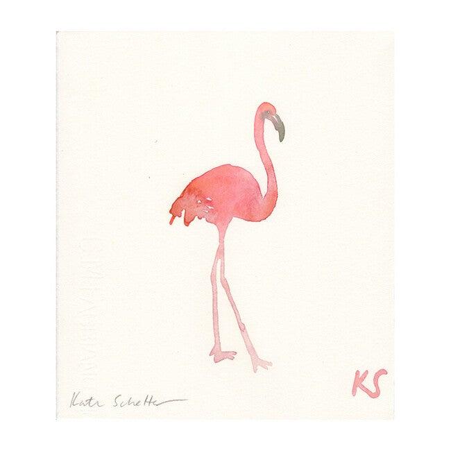 """Flamingo, 8.5"""" x 9.75"""""""