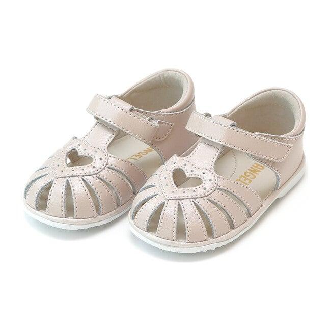 Baby Emmie Open Heart Sandal, Almond