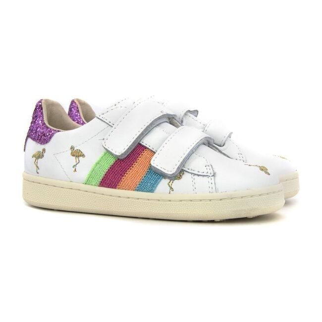 Velcro Mickey Sneakers, Pink