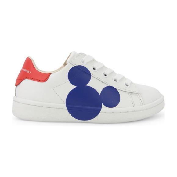 Blue Mickey Sillhoutte Sneakers, White