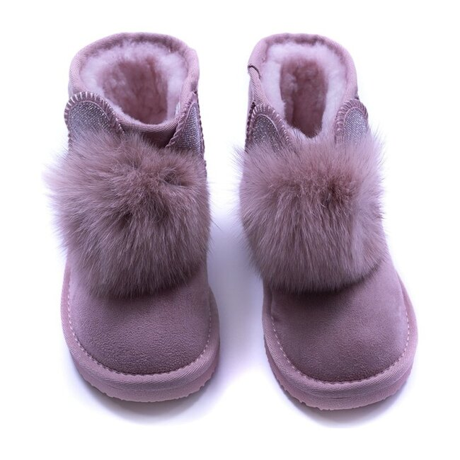 Shearling Boots, Pink