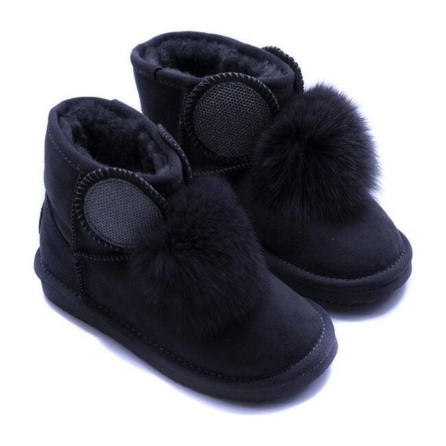 Shearling Boots, Black