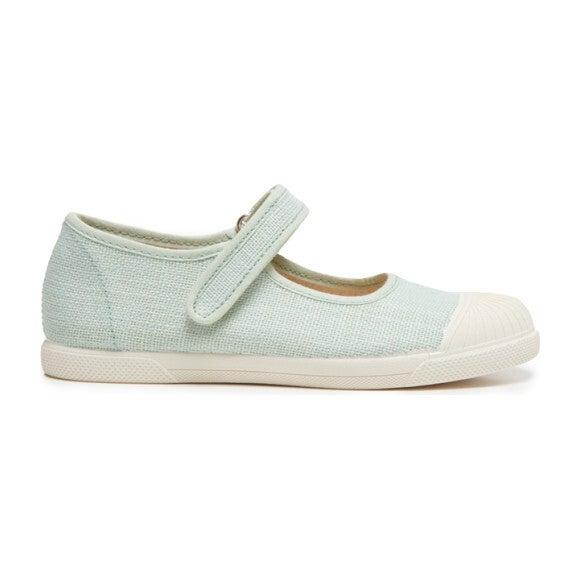 Linen Mary Jane Sneakers, Mint