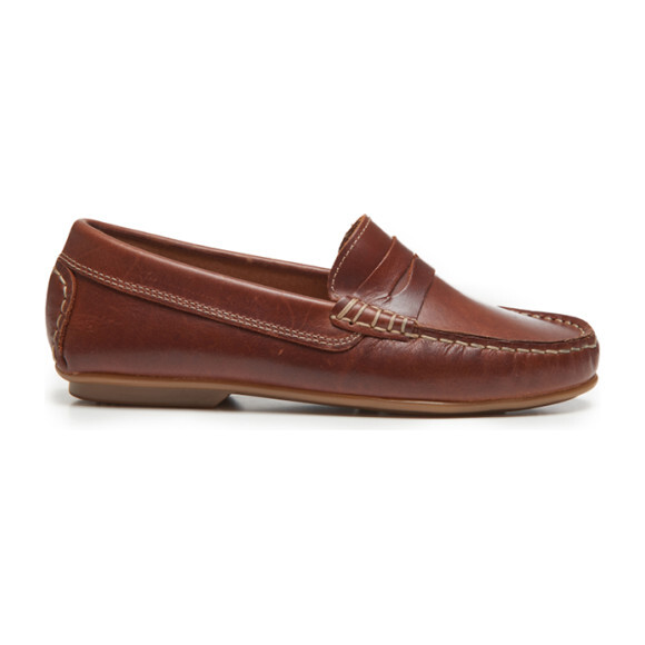 Leather Penny Loafers, Brown