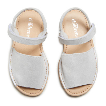 Leather Sandals, Silver Shimmer