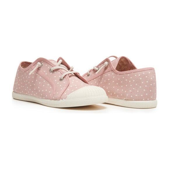Elastic Laces Sneaker, Pink Dots