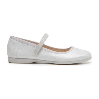 Canvas Mary Janes, Silver