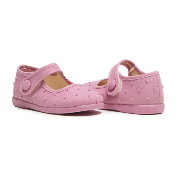 Swiss Dot Bow Mary Janes, Pink