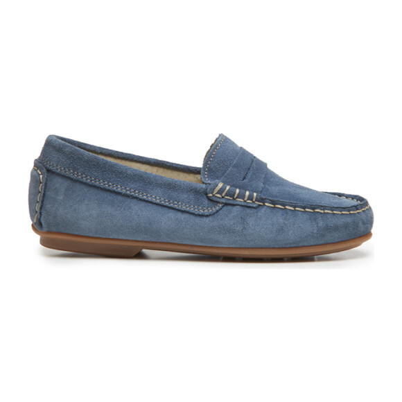 Suede Penny Loafers, Blue