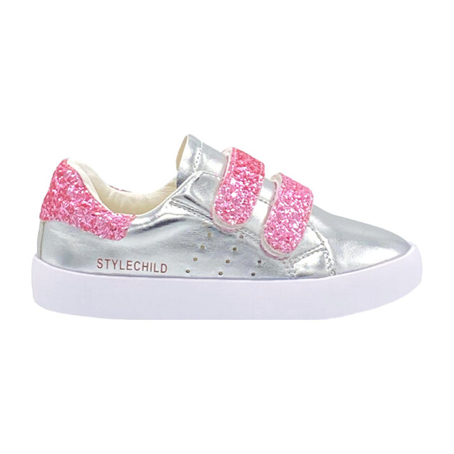 Blair Sneaker, Silver & Pink