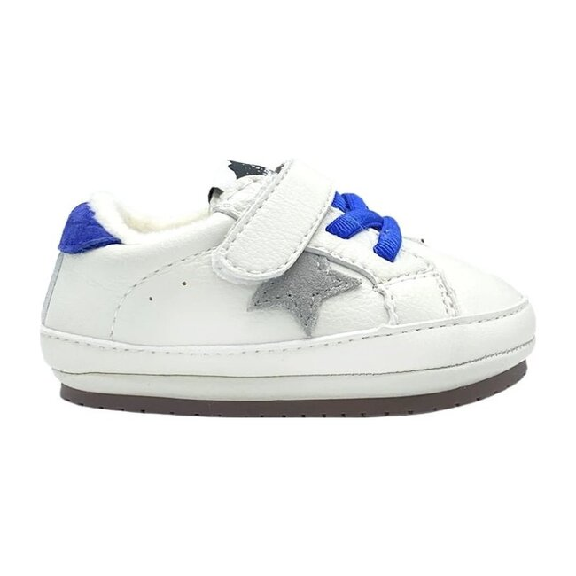 Jack Baby Kicks, White & Blue