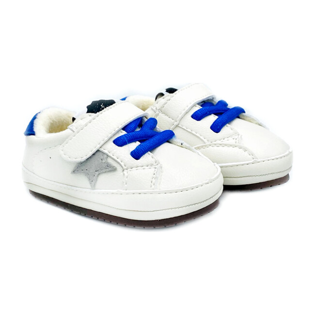 Jack Baby Kicks, White & Blue