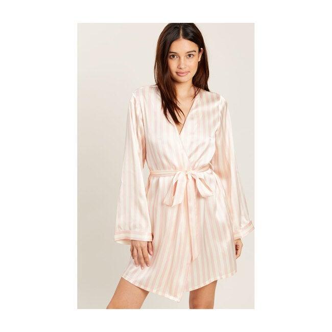 Women's Langely Robe, Petal & Cream