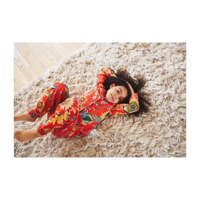 *Exclusive* Kids Moondust Pajamas, Mandarin Red