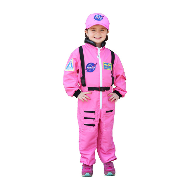 Jr. Astronaut Suit with Embroidered Cap, Pink