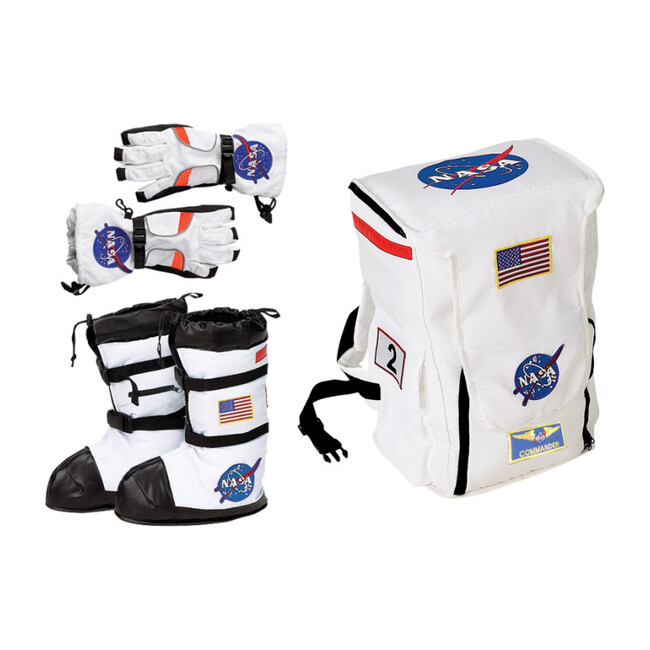 Astronaut Accessory Pack, Backpack, Boots and Gloves - Costumes - 1