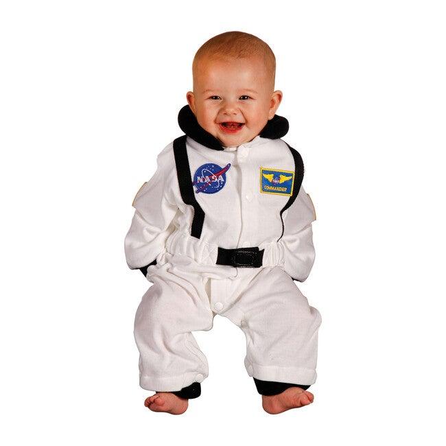 Jr. Astronaut Romper, White
