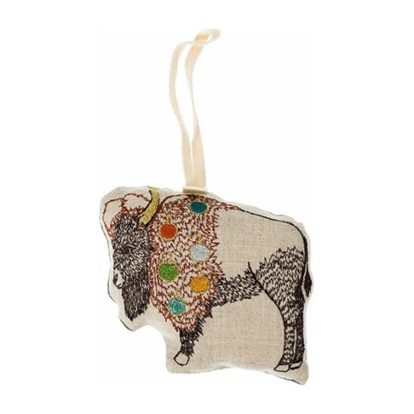 Bison with Bells Ornament