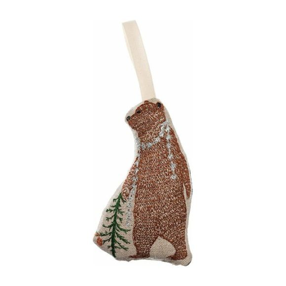 Bear with Tinsel Ornament